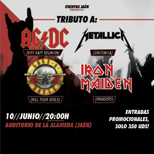 Tributo a ACDC-Metallica-Guns N Roses- Iron Maiden