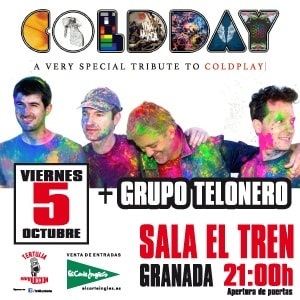 Coldday: Tributo a Coldplay + Grupo Telonero